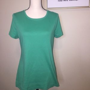 Talbots Green Short Sleeve Blouse